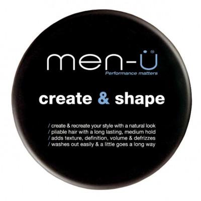 men-u Create & Shape Męska lekka pasta do stylizacji do włosów 100ml PLUS Męski matujący mini żel przeciw wypryskom i na wrastający zarost 15 ml