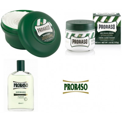 PRORASO Zestaw kosmetyków do golenia dla skóry normalnej