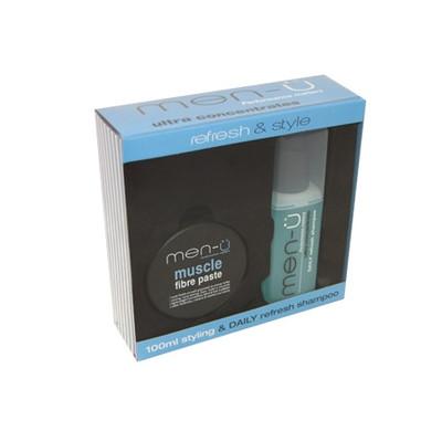 men-u Zestaw Muscle włóknista pasta do włosów 100ml + szampon nawilżający 100ml