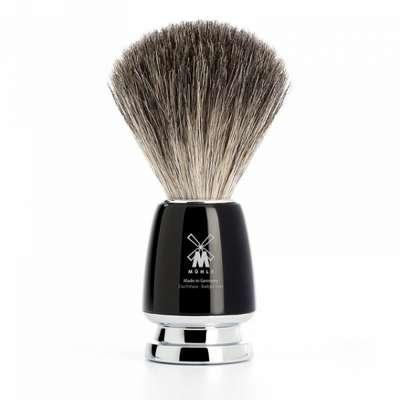 Muhle Męski pędzel do golenia RYTMO Black z włosia borsuka czarny (81M226)