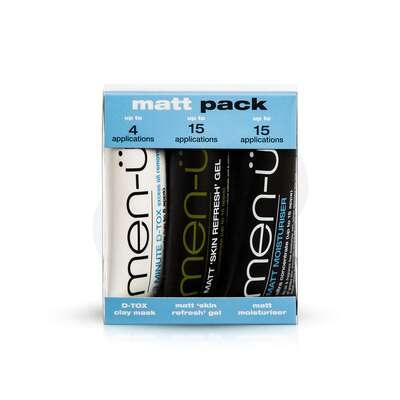 men-u Męski Matt Pack zestaw dla skóry tłustej i trądzikowej 3x15ml