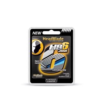 HEADBLADE HB6 Męski zestaw zapasowy wkłady do maszynki 6 ostrzy - 4 szt