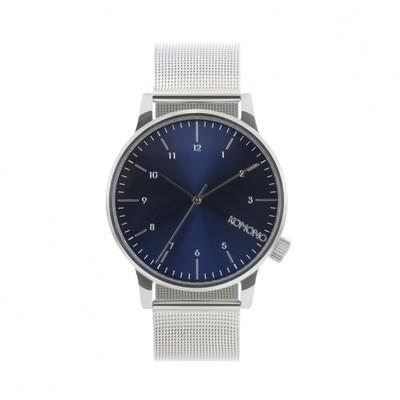 KOMONO Winston Royale silver blue - męski zegarek klasyczny