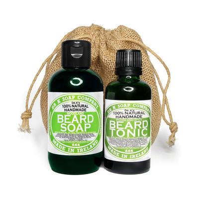 [Zestaw] Dr K Soap Olejek, tonik do brody Drzewo cedrowe, sosna i cytrusy 50ml + Dr K Soap męski szampon do pielęgnacji brody Woodland 100ml