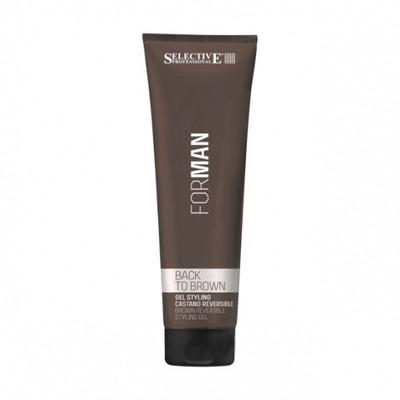 Selective Professional - BACK TO BROWN, żel maskujący siwe do brązywych włosów 150ml