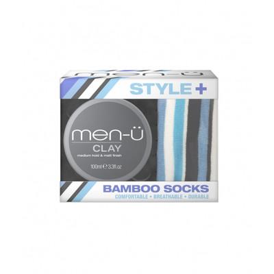 Men-u Zestaw glinka matująca do włosów Clay + skarpetki GRATIS