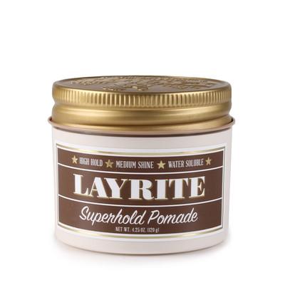 Layrite Superhold wodna pomada do włosów Super mocne utrwalenie średni połysk 113g