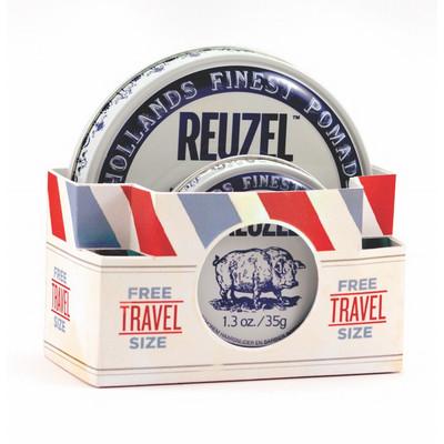 Reuzel Fiber Travel Pack 113g+35g Pasta naturalne wykończenie/mocny chwyt (1)