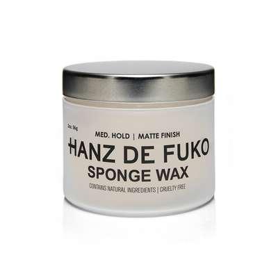 HANZ DE FUKO Sponge Wax Wodna pomada do włosów mocny chwyt/matowe wykończenie 60ml