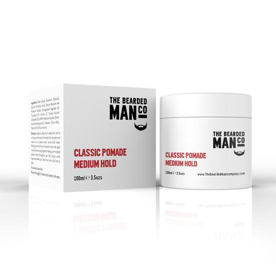 Bearded Man Classic Pomade Strong Hold - Klasyczna pomada do włosów średnio-mocny chwyt/lekki połysk 100g (1)