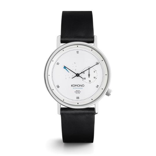 KOMONO Walther Retrograde Black - Designerski męski zegarek klasyczny (1)