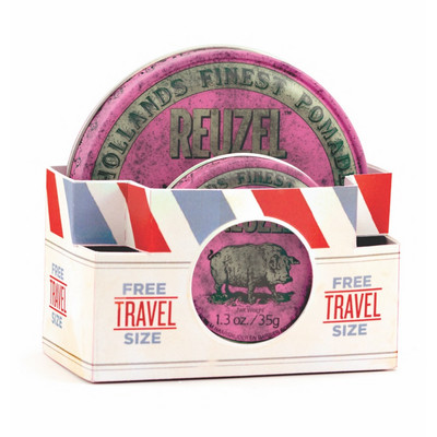 Reuzel Pink Travel Pack 113g+35g średni połysk/mocne chwyt