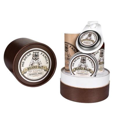 Mr Bear Family Woodland zestaw prezentowy w tubie do brody i wąsów