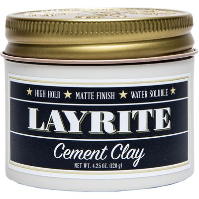 Layrite Cement Wodna pomada do modelowania włosów Super mocne utrwalenie i matowe wykończenie 120g