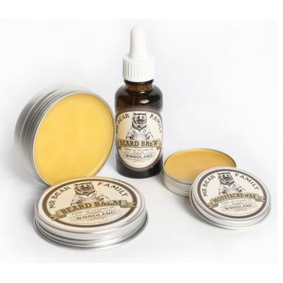 Mr Bear Family Woodland Leśny zestaw do brody i wąsów: wosk, balsam i olejek