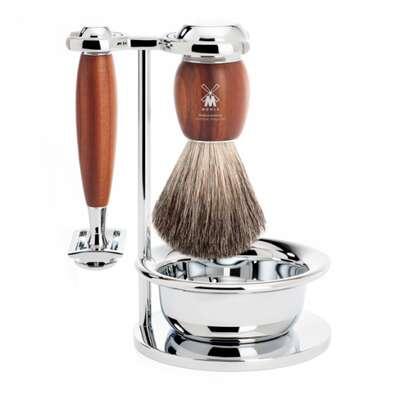 Muhle Vivo Śliwka zestaw do golenia maszynka na żyletki i miseczką (S81H331SSR)