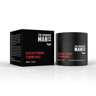 Bearded Man Co 02 Classic Pomade Strong Hold - Klasyczna pomada do włosów mocny chwyt/lekki połysk 100ml