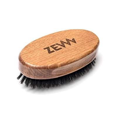ZEW Bukowy kartacz do brody naturalne włosie dzika