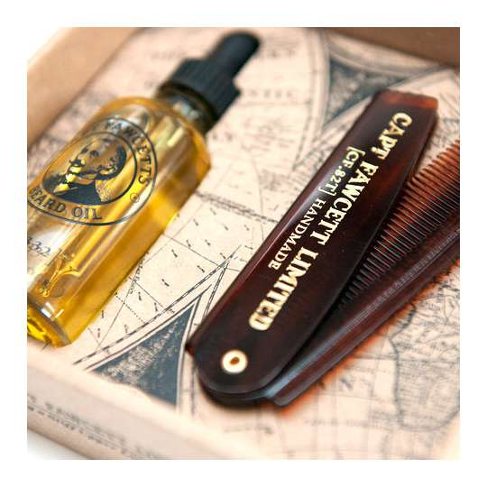 Captain Fawcett Zestaw olejek i grzebień do brody