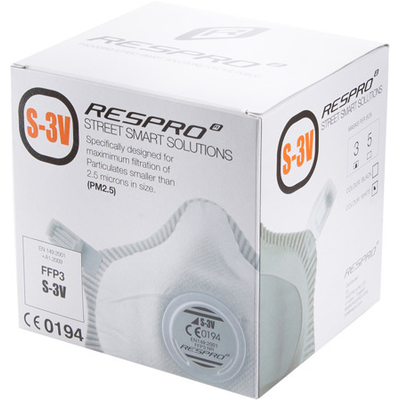 RESPRO S3V Street miejska maska antysmogowa PM2.5 Certyfikat EN149- FFP3 3szt