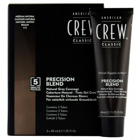 American Crew Precision Blend Odsiwiacz repigmentacja Kolor średni naturalny 4-5 3x40ml