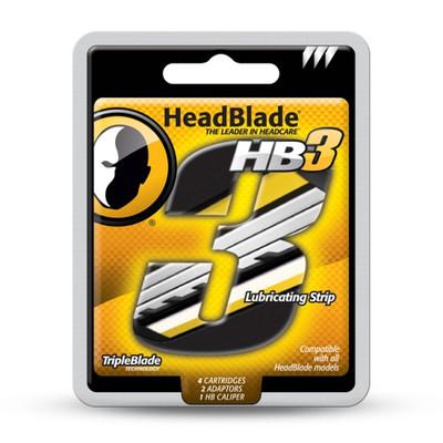 HEADBLADE HB4 Męski zestaw zapasowy poczwórne ostrza 4 szt (1)