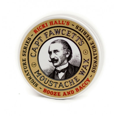 Captain Fawcett edycja Ricki Hall Booze & Baccy Wosk do wąsów 15ml
