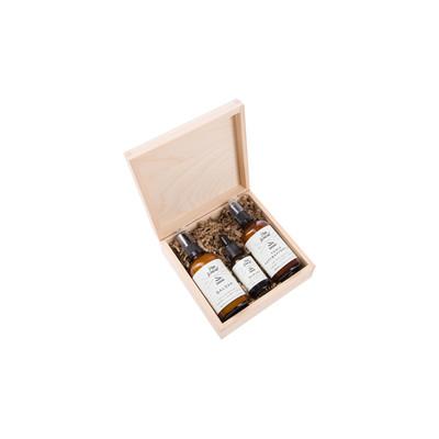 Pan Drwal - Zestaw prezentowy w pudełku drewnianym 3 drwali olejek balsam tonik