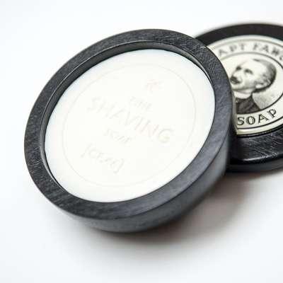 Captain Fawcett's Luxurious - Męskie mydło do golenia w drewnianym tyglu 110 g