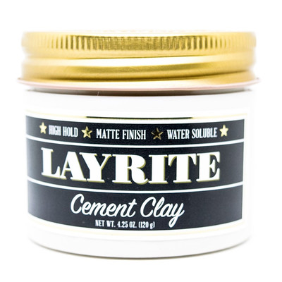 Layrite Cement Wodna pomada do modelowania włosów Super mocne utrwalenie i matowe wykończenie 42g