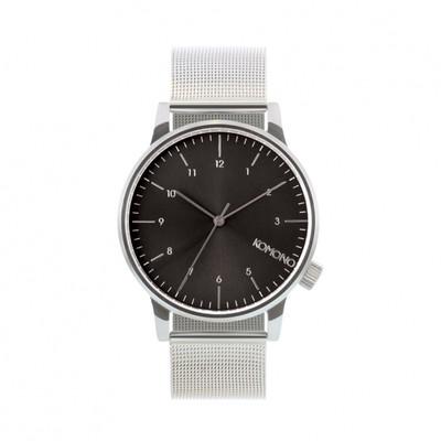 KOMONO Winston Royale silver black - męski zegarek klasyczny