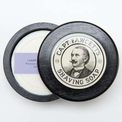 Captain Fawcett's Męskie mydło do golenia w drewnianym tyglu 100g