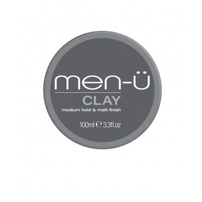 men-u Clay Męska matowa glinka modelująca do włosów matowe wykończenie/średni chwyt 100ml