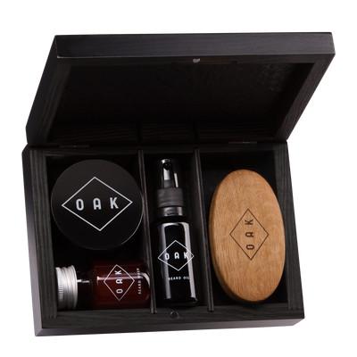 OAK Beard Box -zestaw prezentowy do brody i wąsów