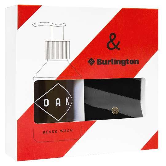 OAK & BURLINGTON Giftbox Red - Zestaw prezentowy szampon i skarpetki (1)