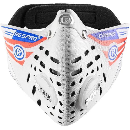 RESPRO Cinqro black - sportowa maska antysmogowa PM2.5 PM10 (1)