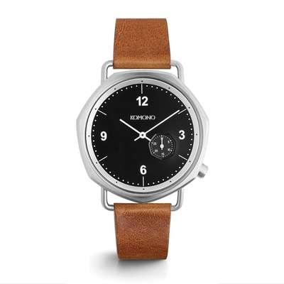 KOMONO Orson Cognac - Designerski męski zegarek klasyczny