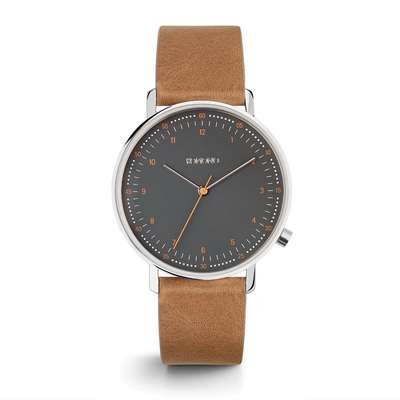 KOMONO Winston Royale silver black - designerski męski zegarek klasyczny (1)