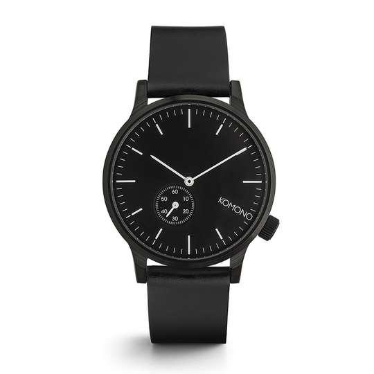 KOMONO Winston Subs Silver White - Designerski męski zegarek klasyczny (1)