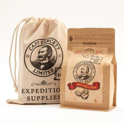 Captain Fawcett Coffee (Congo Single Origin) Freshly Roasted - świeżo palona kawa w ziarnach 227g
