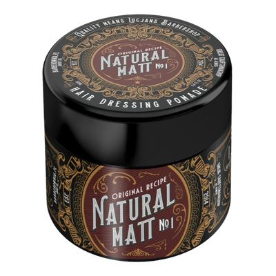 Lucjan's Barber Shop Natural Matt - glinka do włosów, mocny chwyt / matowe wykończenie 100 ml
