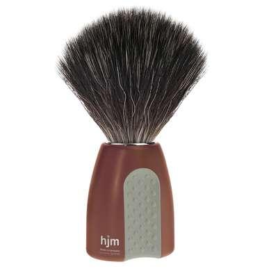 Mühle hjm Męski pędzel do golenia z syntetycznym włosiem czerwono-szary (21 P 8 RO/GR)