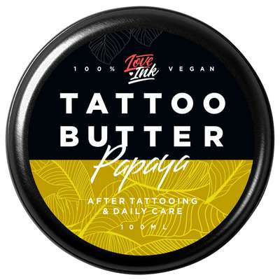Loveink Tattoo Butter Papaya - masło do tatuażu 100 ml