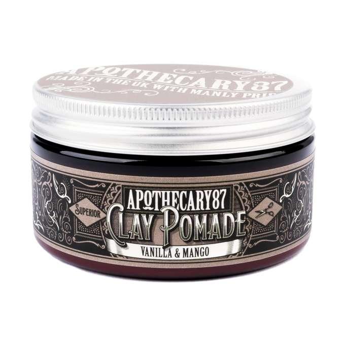 APOTHECARY 87 Clay Pomade Vanilla & Mango - pomada do włosów 100 ml