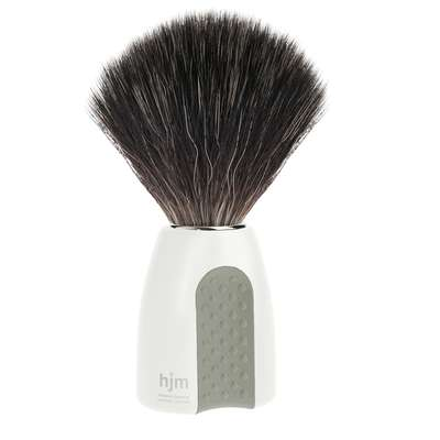 Mühle hjm Męski pędzel do golenia z syntetycznym włosiem biało-szary (21 P 8 W/GR)
