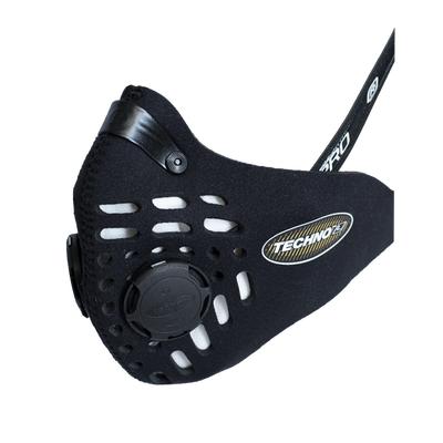 RESPRO CE Techno Black - sportowa maska antysmogowa PM2.5 PM10 rozmiar L