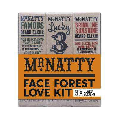Mr Natty Face Forest Love Kit - zestaw 3 olejków