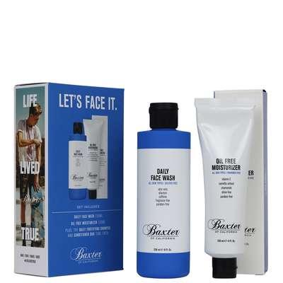 """Baxter of California """"Let's Face It"""" Skincare Grooming Kit - zestaw dwóch bestsellerowych produktów do twarzy"""