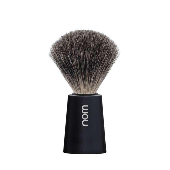 NOM Męski pędzel do golenia CARL z włosia borsuka czarny (81BL)
