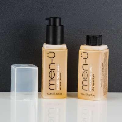 men-u refill kit - antybakteryjny żel do mycia twarzy zestaw 2x100 ml
